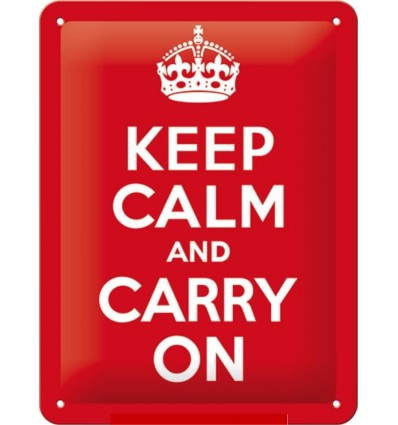 "Tabla ""KEEP CALM AND CARRY ON"""