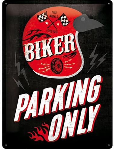 """TABLA """"BIKER PARKING ONLY"""""""