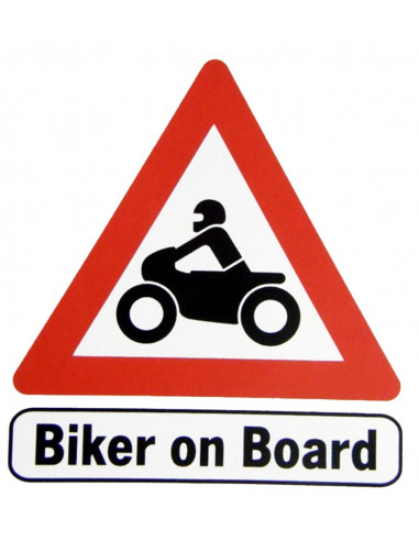 "NALEPKA ""BIKER ON BOARD"""